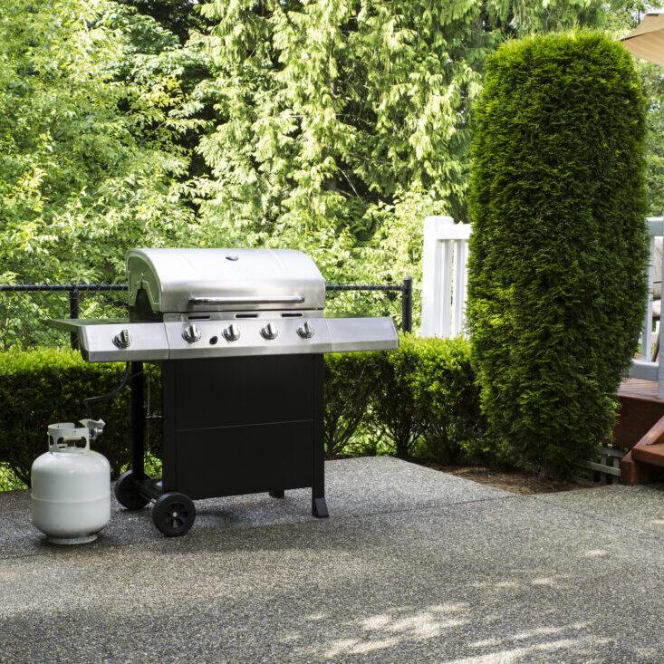 an outdoor grill system